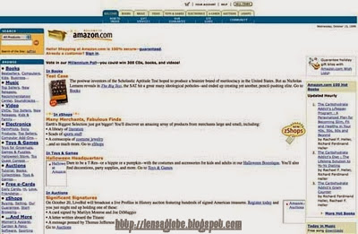 tampilan amazon.com jadul