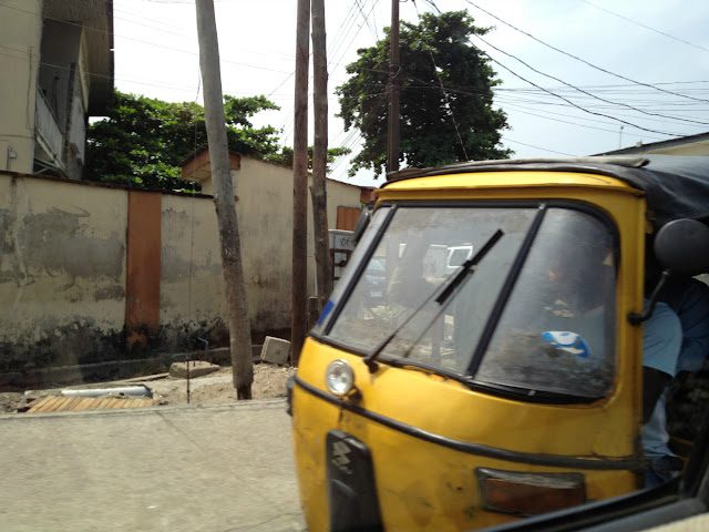 Front of Three Wheel Taxi