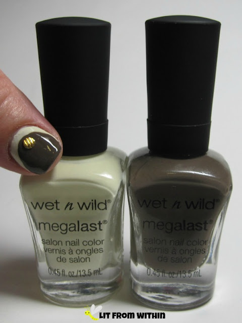 Bottle shot:  Wet 'n Wild LAC - My mani? and Distressed To Impress.