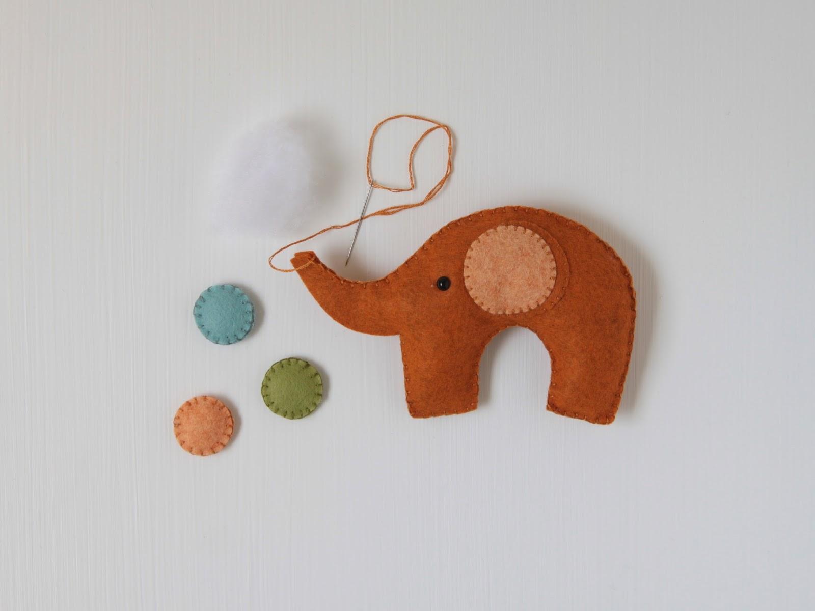 Felt Elephant Pattern // Benzie