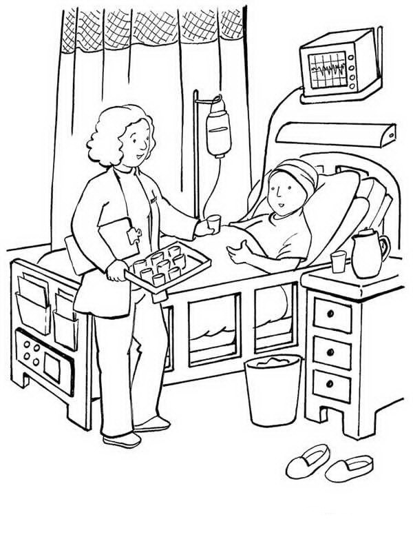 Doctor caring for a child in hospital | COLOR AREA