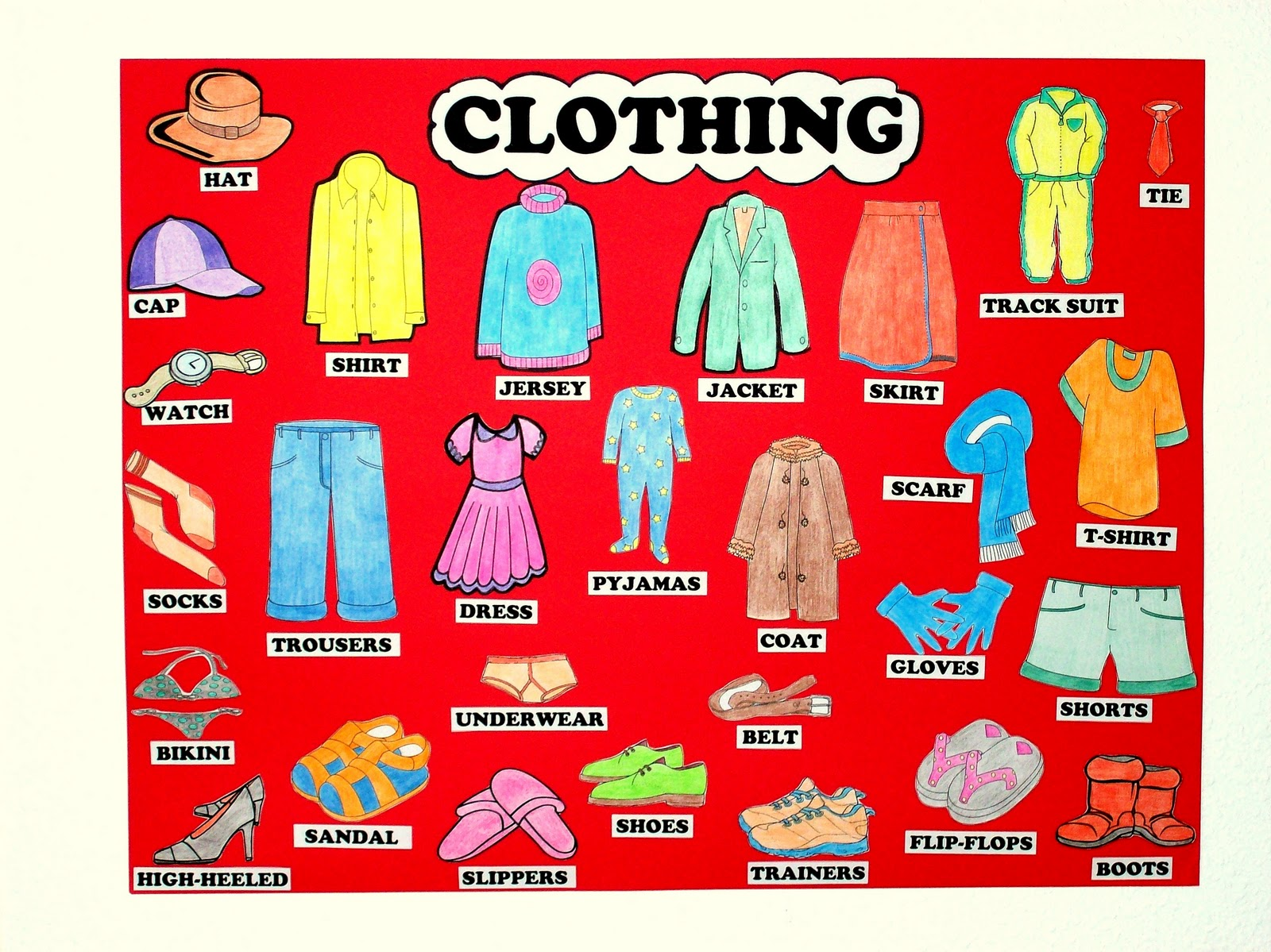 Cards For Kids Vocabulary Files For Children The Clothes