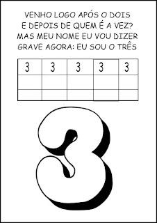 Atividades Numerais - Atividades com Números - Educação Infantil 3