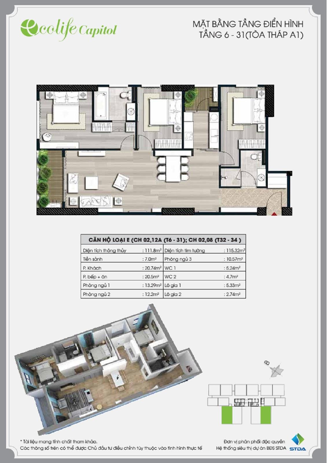 mặt bằng chung cư ecolife