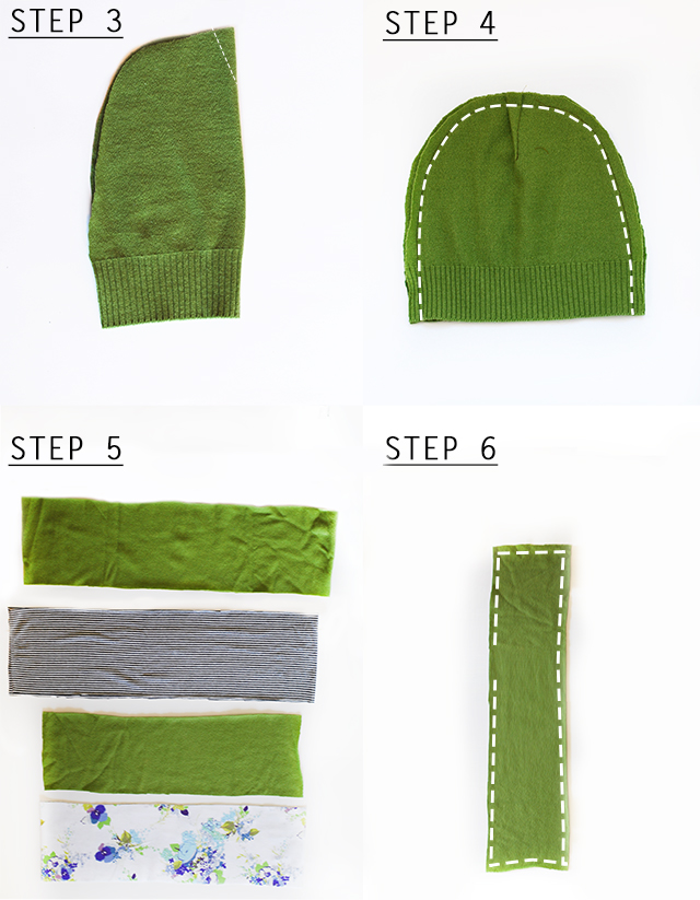 Upcycled Hat & Scarf DIY