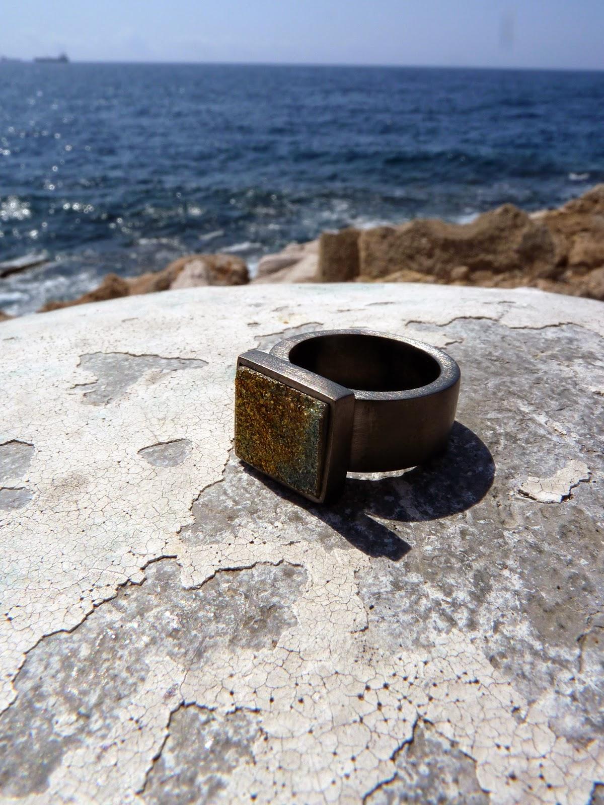 Niu joies anillo de plata con ba o de rodio negro for Bano de rodio precio