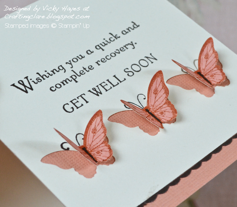 Papillon Potpourri butterflies over apertures cut with Bitty Butterfly punch by stampin up