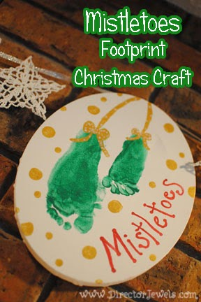 Mistletoes Footprint Christmas Craft 12 Handprint Footprint Fingerprint Christmas Craft Gift Ideas Directorjewels Com