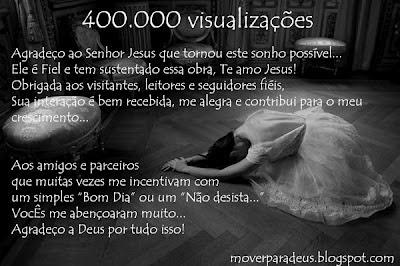 Agradecimento 400.000 visualizações