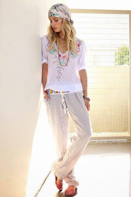 Look tons pastel tendencia primavera verão 2015 calças branca