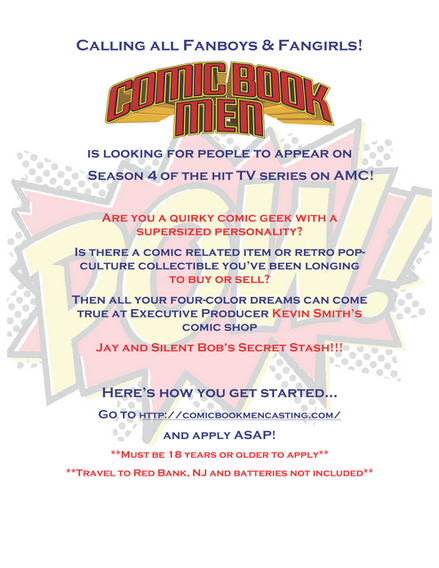 comic book men casting call