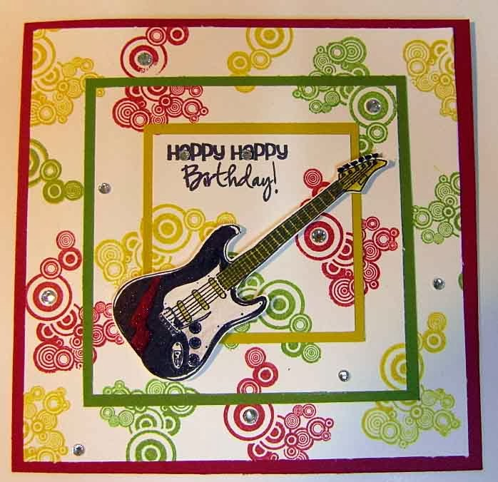 Engelart birthday card with guitar bookmarktalkfo Choice Image