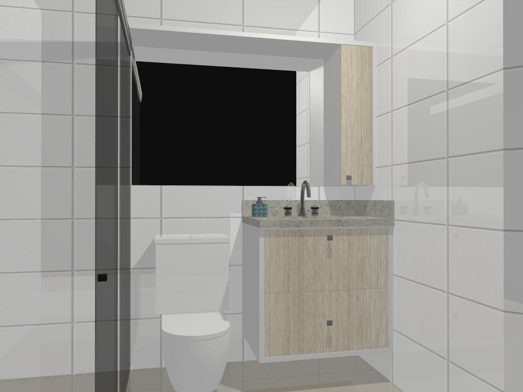 balcão debaixo da pia é um gavetão com aramado pra roupa suja e  #3C5156 1024x768 Balcao Banheiro Suite