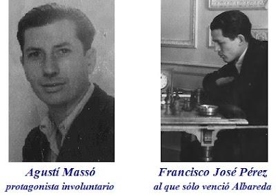 Los ajedrecistas Agustí Massó y Francisco José Pérez