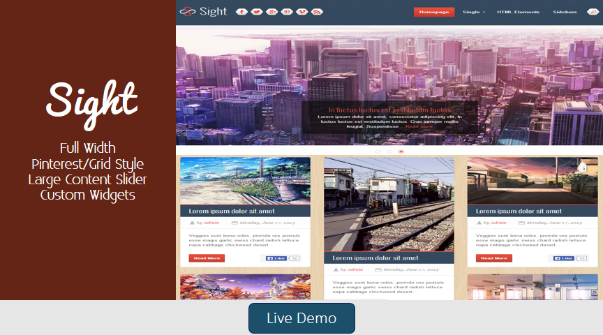 Sight Blogger Template