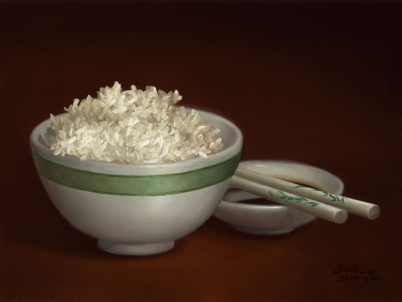 how to draw a bowl of rice