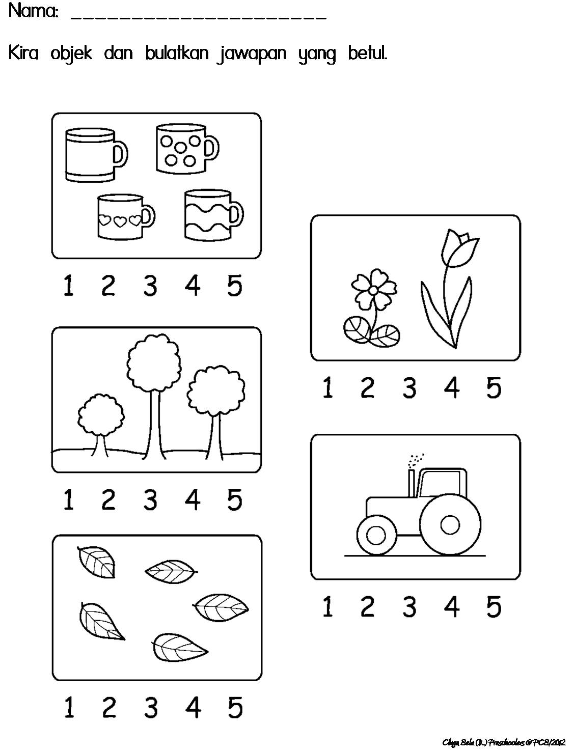 Lembaran Kerja Nombor 1-5