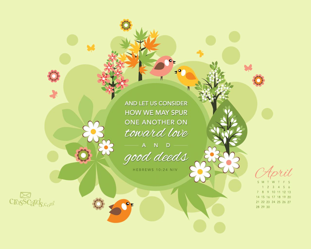 Christian Wallpaper Calendar : Free christian wallpapers april desktop