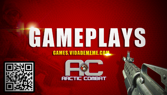 Video do Canal Vida de Meme Games:  Gameplay : Arctic Combat + Matando pra baralho !