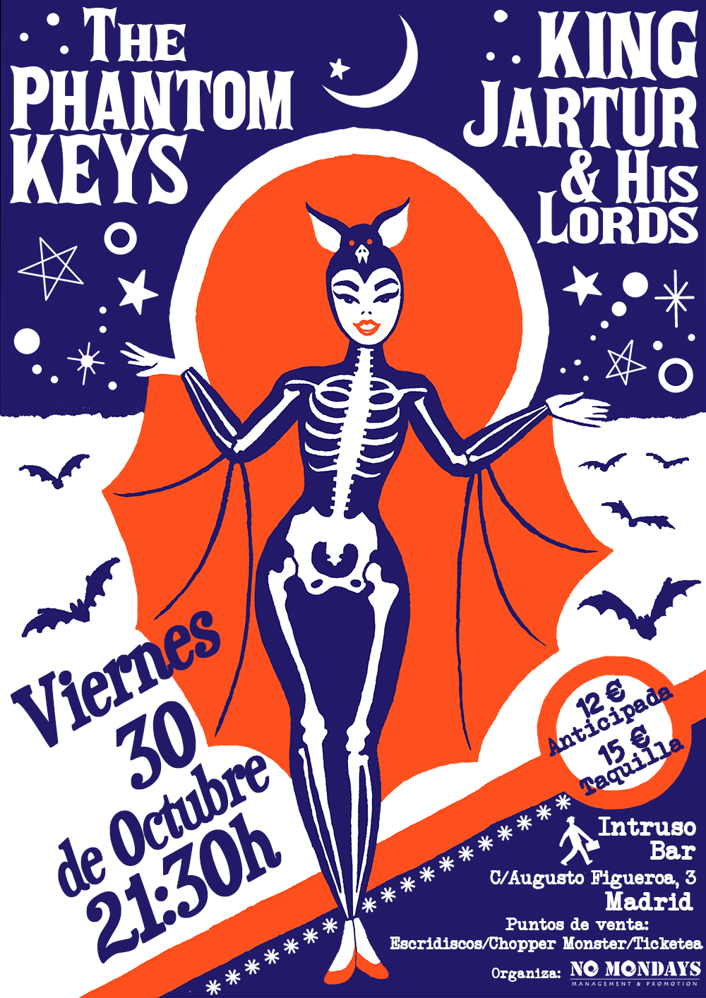The Phantom Keys + King Jartur & His Lords - 30/10/2015 - El Intruso