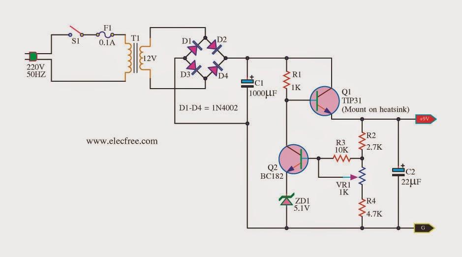 eletr u00f4nica free circuits  fonte para 9v