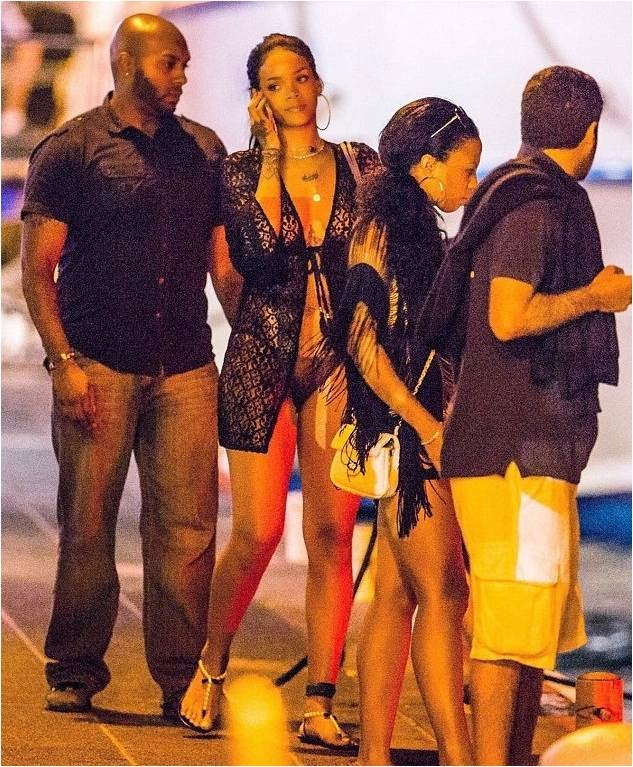Rihanna Wearing Lace Diva
