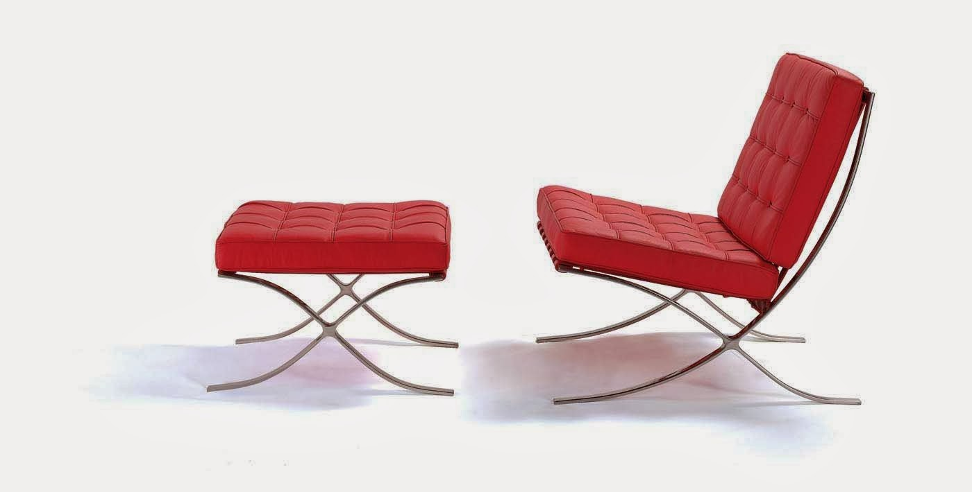 moderne fauteuil rouge Barcelona