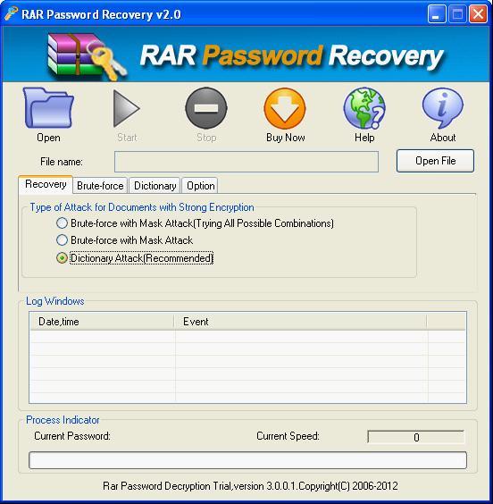 .rar password remover
