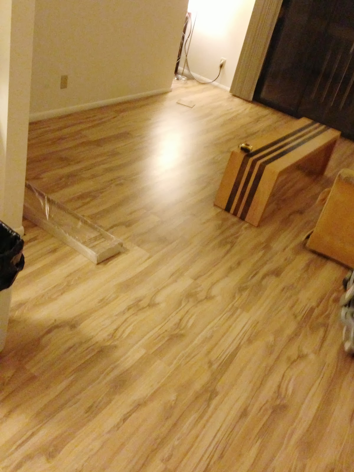 How We Put Hardwood Over Carpet Messymom - What do i put under laminate flooring