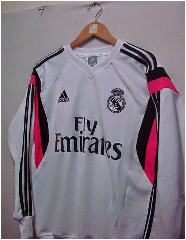 Jual Jaket Sweater Real Madrid Grade Ori Paling Baru Musim 2015 Warna Putih Kombinasi Ping