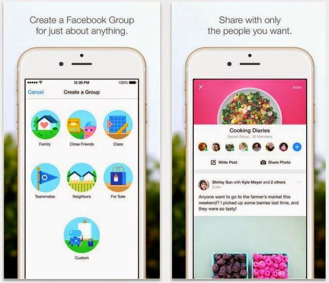 فايسبوك تطلق تطبيقها الجديد Facebook Groups