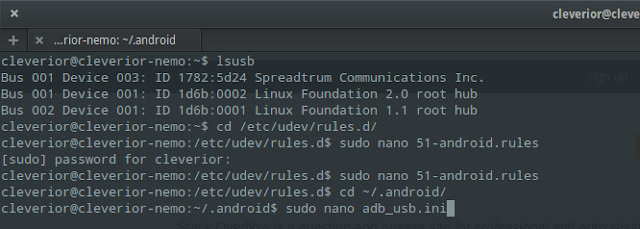 fix adb connections in linux
