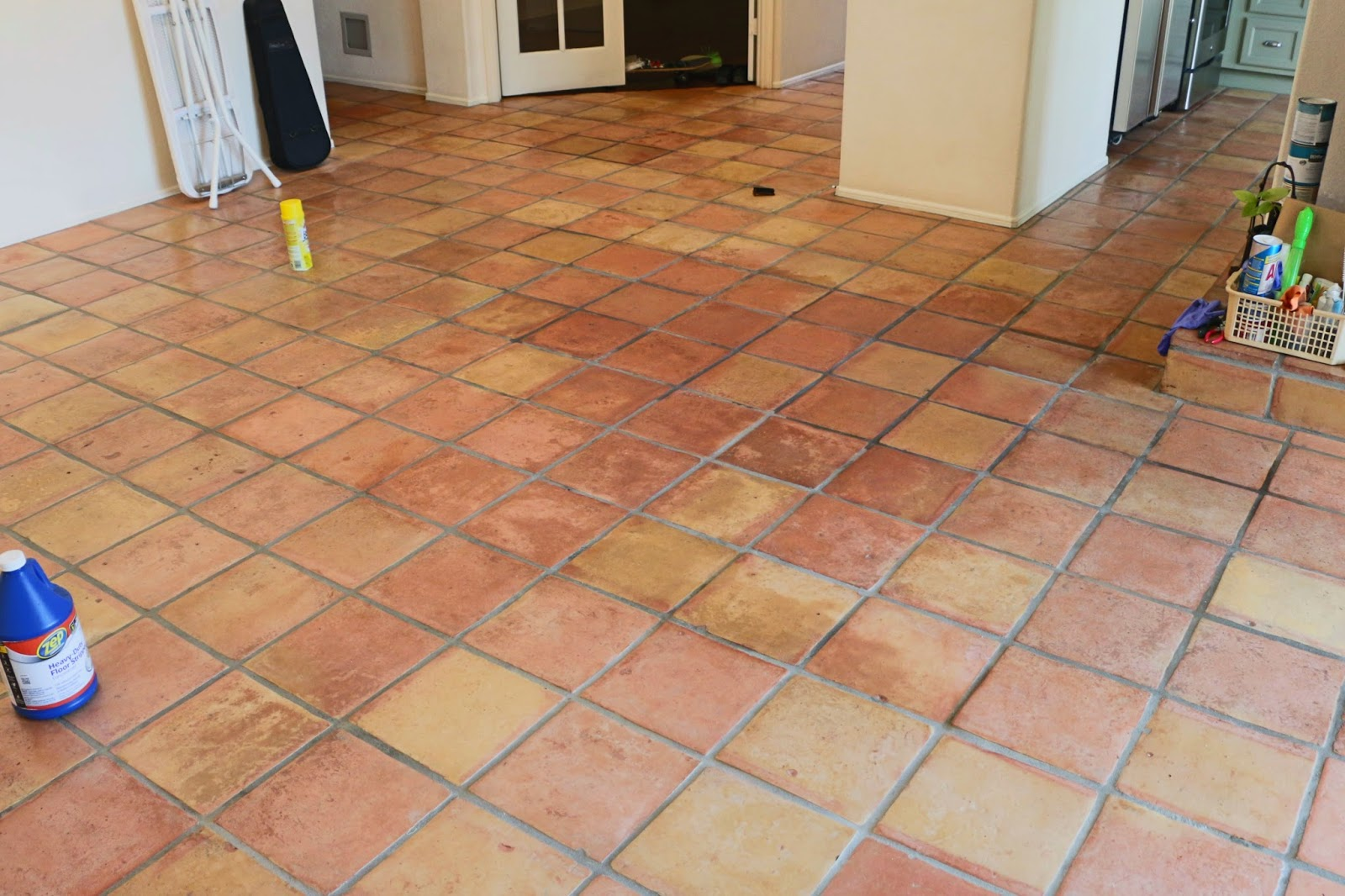 Dull tile floor