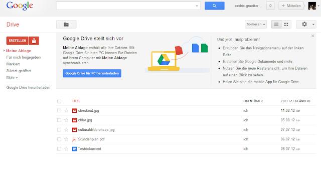 Google Drive Seite