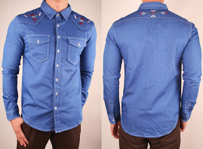 model kemeja denim zara import