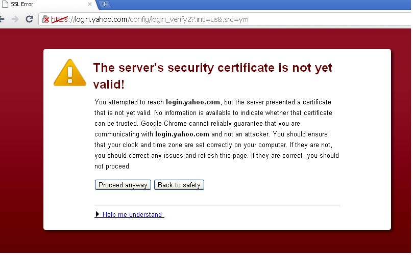 Security dating certificate