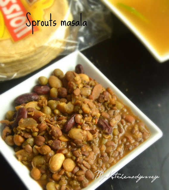 sprouts masala curry recipe3