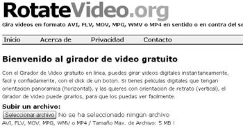 gira tus vídeos y transformalos con Rotatevideo - www.dominioblogger.com