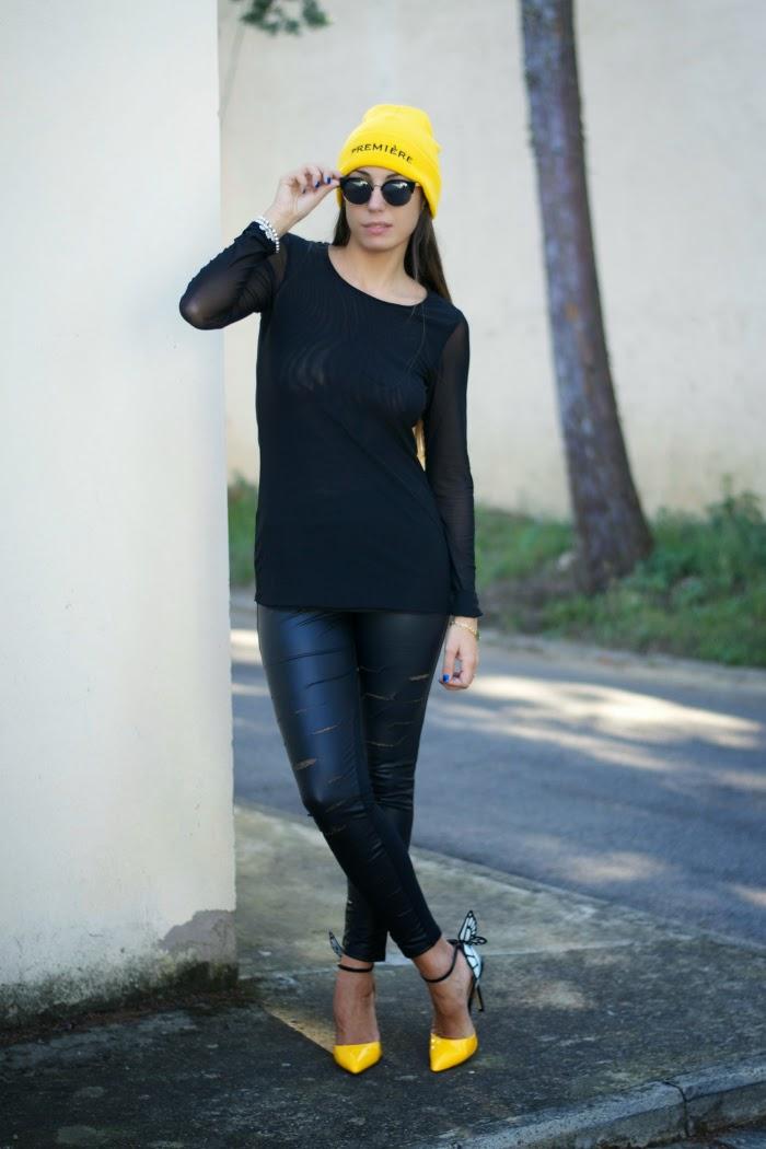 total black accessori colorati