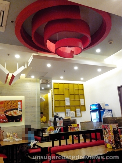 colorful interior of Rai Rai Ken at Lucky Chinatown Mall in Binondo, Manila