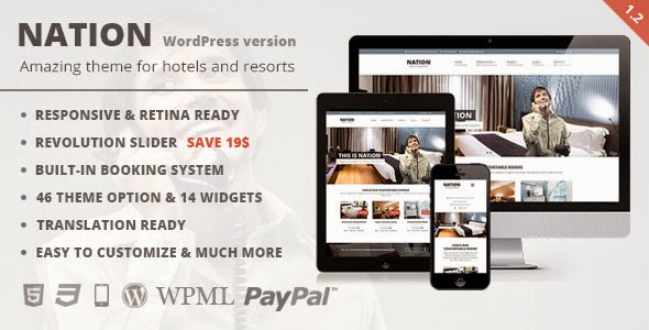 Nation Hotel v1.2.1 - Responsive WordPress Theme
