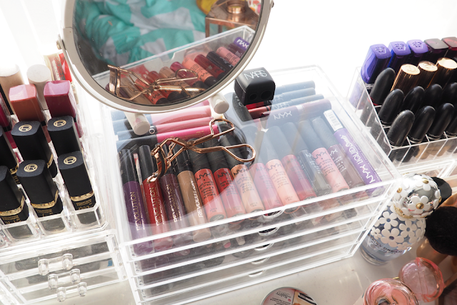 Muji makeup storage mac lipsticks nyx nars