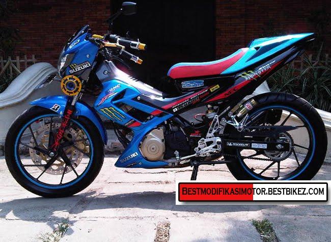 gambar modifikasi motor suzuki satria fu 150 terbaru 2012 dibawah ini