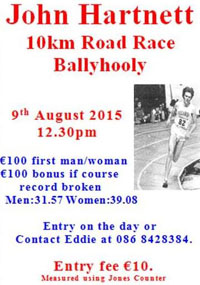 10k race near Fermoy...Sun 2nd Aug