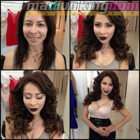 Brenda+Moreno Foto: 12 Artis Porno Sebelum dan Sesudah Make Up
