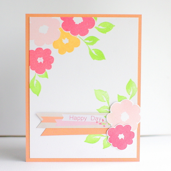 Leigh Penner Chickaniddy Crafts Stamped Flower Card