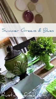 Summer Greens & Blues @ Rustic-refined.com