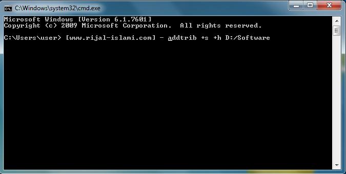 Cara Menyembunyikan Folder pada Windows 7 - www.rijal-islami.com