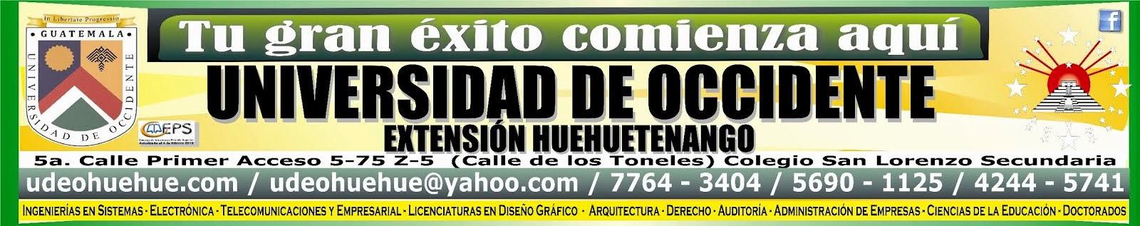 Universidad de Occidente Extensión Huehuetenango