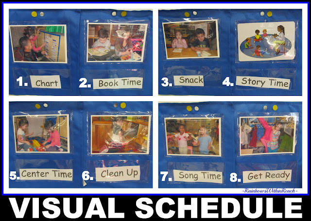 photo of: Visual Schedule presented in Photographs for use in Preschool